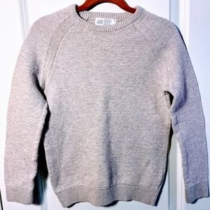 Kids Greige Sweater With Ribbed Detailing {EUC}